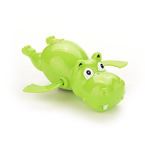 Wonderful-Buying 1 X Baby Educational Hippo Clockwork Wind Up Plastic Swimming Toy
