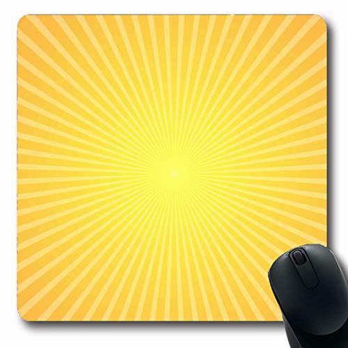 Ahawoso Mousepads for Computers Hot Yellow Sun Starburst Tones Nature Sunrise Orange Burst Shine Halftone Distressed Spa Oblong Shape 7.9 x 9.5 Inches Non-Slip Oblong Gaming Mouse Pad