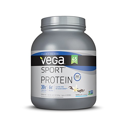 Vega Sport Protein Powder Vanilla (45 Servings) - Plant-Based Vegan Protein Powder, BCAAs, Amino Acid, tart...
