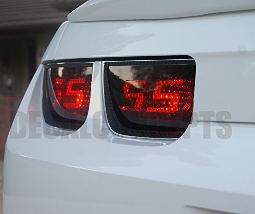 Camaro Tail light Smoked SS Decal Overlay kit (2010-2013) (Decal Tail)
