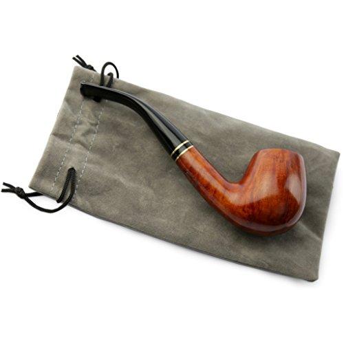 A.P. Donovan - Tabak-Pfeife - Handarbeit (Farbton kann variieren) - mit Beutel - Mundstück aus Kunststoff - für 9mm Filter - aus Bruyereholz
