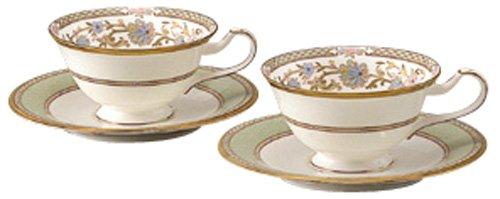 Noritake bone china tea and coffee Yoshino bowl dish pair set Y6988/9983 (japan import) by Noritake