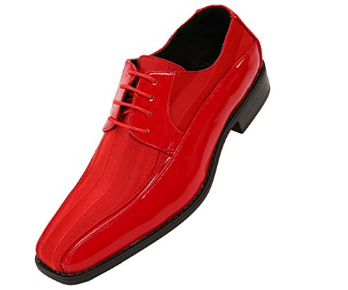 Viotti-Mens-Formal-Oxford-Dress-Shoe-Striped-Satin-and-Patent-Tuxedo-Classic-Lace-Up-Style-179