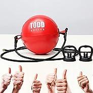 FiTeau Durable Double End Bag - Train Strike & Reflex & Cardio Beginner Boxing MMA Speed Ball - Easy t