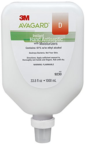 Avagard 9230 Instant Hand Antiseptic with Moisturizers, 61% Ethyl Alcohol (Pack of 5) by AVAGARD
