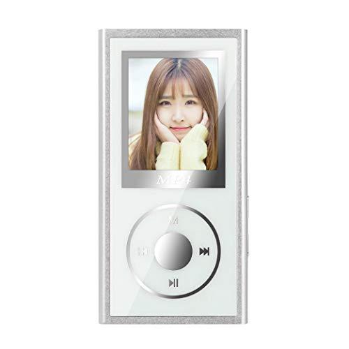 Liu Nian Bluetooth 4.1 HiFi MP3 MP4 Fashion Portable Music Player FM Radio USB Mini MP4 Player LCD Screen Support 32GB Micro SD TF Card (Silver)