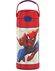 THERMOS FUNTAINER 12 Ounce Stainless Steel Kids Bottle, Spider-Man