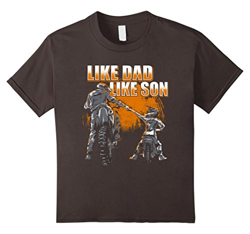 Kids Like Dad Like Son - Motocross & Dirt Bike Father T-Shirt 6 Asphalt (T-shirt Youth Son Like)