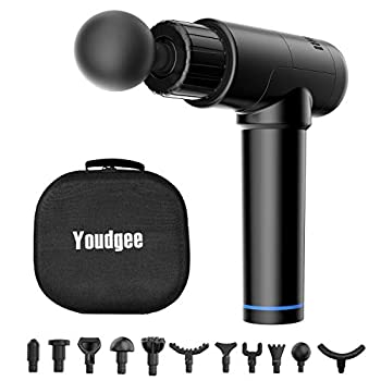Youdgee Deep Tissue Muscle Therapeutic massage Gun with 7 Therapeutic massage Heads & A number of Pace – Percussion Vibration Massager Device for Stiffness, Ache Aid, Soreness, Rest, Legs, Again, Neck- Handheld, Electrical