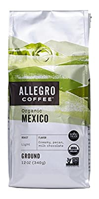 Allegro Coffee Organic Mexico Ground Coffee, 12 oz by Allegro Coffee