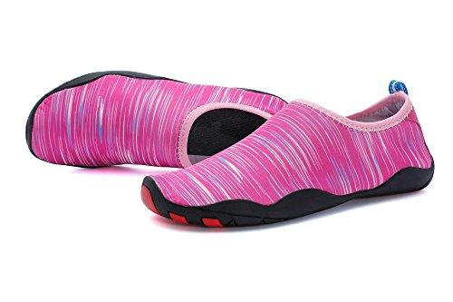 Foupler Heren Dames Mutifunctionele Sneldrogende Huid Waterschoenen Of Aqua Sokken Voor Zwemmen Yoga Strand Zwembad Roze