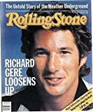 RICHARD GERE ISSUE # 379 ROLLING STONE MAGAZINE SEPTEMBER 30TH, 1982