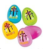 Deluxe Believe Religious Cross Easter Eggs - 24 Pieces!
