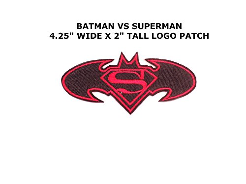 [Athena Superhero DC Batman VS Superman Logo Easy Iron or Sew-on Embroidered Cartoon Comics Movie Theme Applique Patch] (Imperial Guard Costume Warhammer 40k)