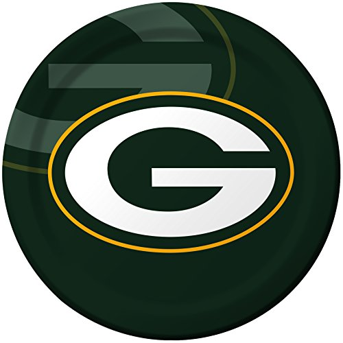 Creative Converting 8 Count Green Bay Packers Paper Dinner Plates - 429512