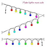 Bysn String Light Hanging Kit,Globe String Light Suspension Kit, Outdoor Light Guide Wire,Vinyl Coated Stainless Steel Steel Cable, 164 ft.With Turnbuckle and Hooks