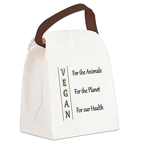 CafePress Vegan Canvas Lunch Handle
