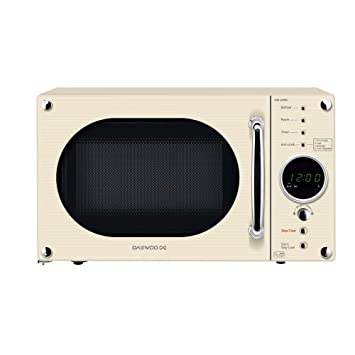 Daewoo KOR6N9RC Touch Control 800W 20L Microwave Oven in Cream Gloss