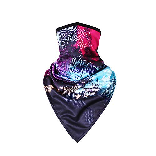 TClian Women's Face Mask Sun Protection Fashion Colorful Print Half Face Mask Neck Gaiter Breathable Quick dry Perfect for Summer Outdoor Cycling Motorcycle Hiking Climbing - 7 Colors (FCM-07) (Motorcycle Gaiters)