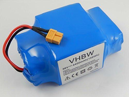 vhbw Batterie 36V pour Divers Hoverboards, Balance-Boards, Segways par Exemple de Gyropode, Viron, Razor, Caterpillar (4400mAh, Li-ION)