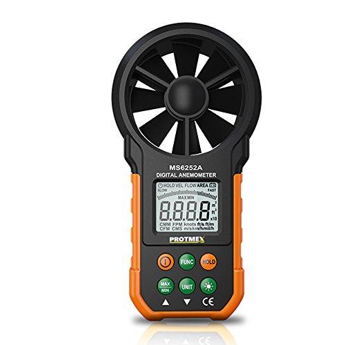 Wind Speed Meter : Portable digital anemometer protmex ms a handheld wind