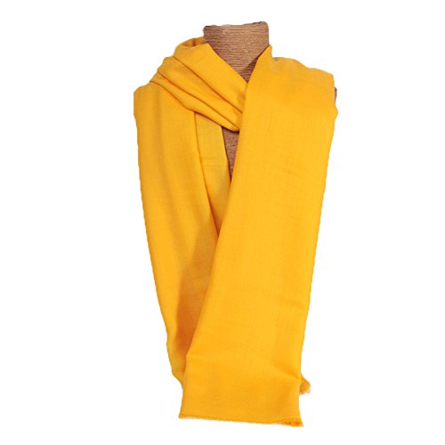 Women's Spring Autumn Summer New Style High Quality Woolen Shawl High Density Shawl Yellow by YSW
