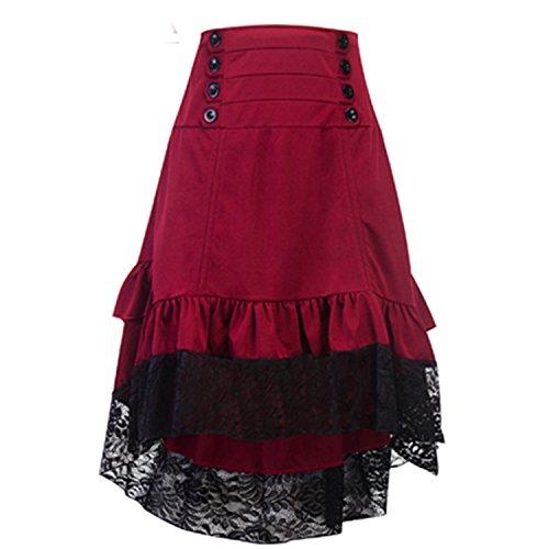 Naomiky Costumes Steampunk Skirt Clothing High Low Vintage Party Skirts Medieval Renaissance Skirt Longa Faldas 1 (Costume Medievale Ebay)