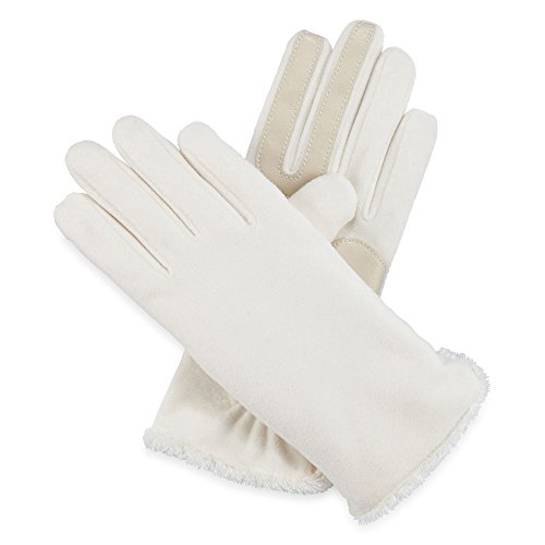 Isotoner Women's SmarTouch Microluxe Lined Stretch Fleece Gloves - Ivory
