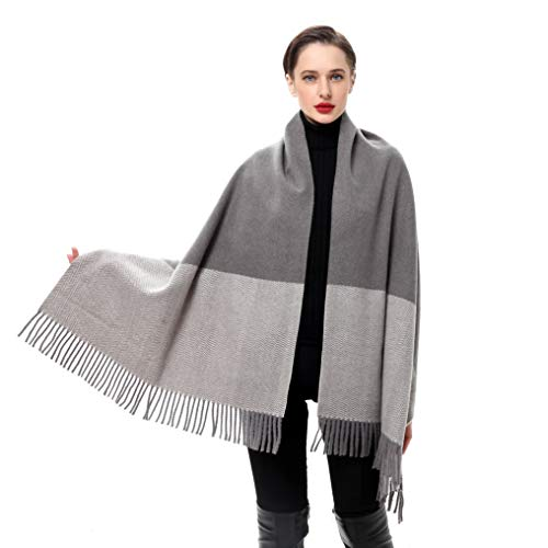 Luxury Cashmere Blend - Womens Cashmere Shawls Wraps Winter Scarf Extra Large Lambswool Luxury Fashion Plaid Wedding Pashmina (Wave#2)