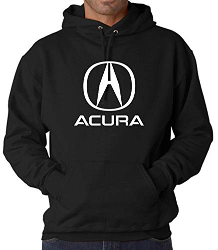 Acura Logo Luxury Car Hoodie/T-Shirt - Premium Quality (Black Hoodie, X-Large)