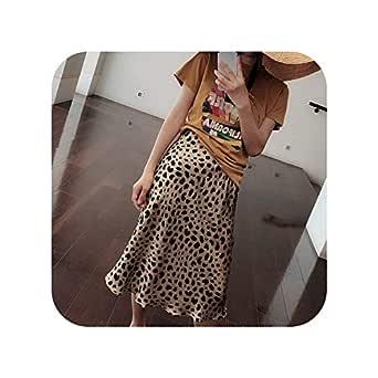 Falda de Leopardo para Mujer con Estampado de Leopardo de Verano ...