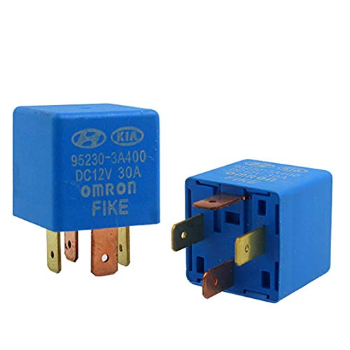 (2 Pack Automotive Multi-Purpose Relay DC 12V 30A 4 Pin OEM Part Number 95230-3A400 for Hyundai Kia)