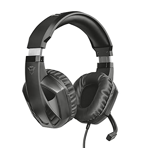 Trust GXT 412 Celaz - Auriculares Gaming para PC, Laptop, Playstation 4, Xbox One y Nintendo Switch, Negro