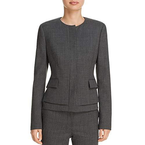 BOSS Hugo Boss Womens Jasyma Wool Business Peplum Jacket Gray 6 (Women For Suit Hugo Boss)
