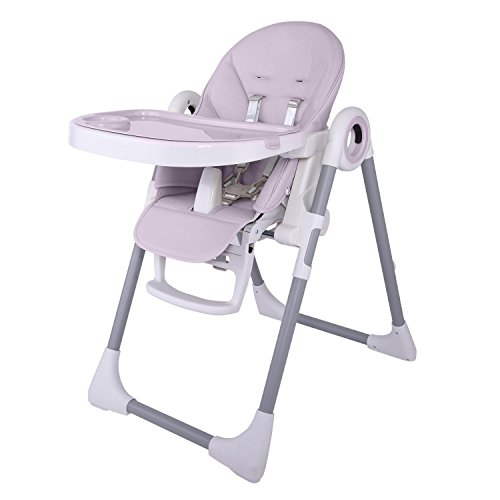 Dorani Foldable Portable Telescopic Baby High Chairs with Tray, Solid, Gray (US Stock) by Dorani