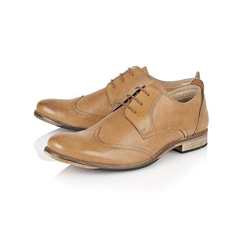 Tan De Kade Lotus Hombres Satinado Zapatos De Cordones De Cuero 6