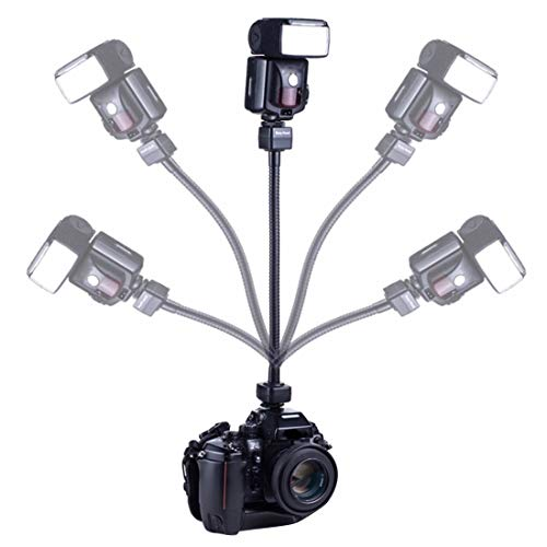 Clamp Hdslr (Dig dog bone Flexible Rotating Arm Flash Light TTL Bracket Hand Grip Holder Mount Compatible Nikon)