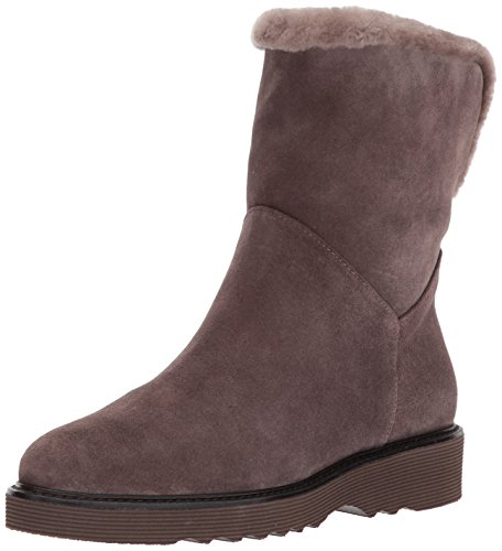 Aquatalia Women's Kimberly Suede/Shearling, Anthracite, 9.5 M M US