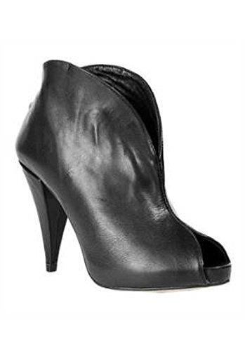 para Stiefelette cuero negro de negro mujer Botas Apart wUS41B