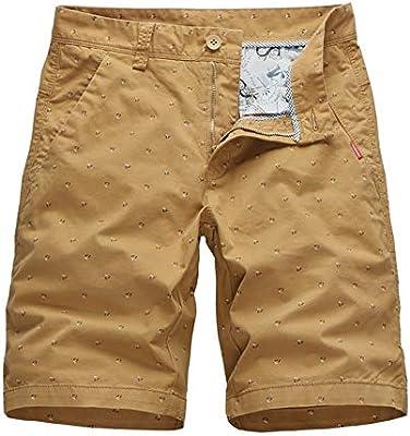 Pantalones cortos casual Hombre Bolsillos de bolsillo seguros ...