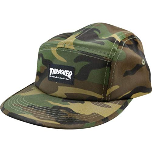 Thrasher Magazine Mag Logo Camo 5 Panel Hat - Adjustable (5 Panel Skateboard Hats)