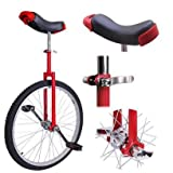 24 inch Wheel Unicycle Red