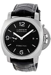 Panerai Men's PAM00312 Luminor 1950 Black Dial Watch