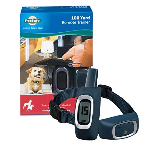 PetSafe 100 Yard Remote Trainer, Rechargeable, Waterproof, Tone / Vibration / 15 Levels of Static Stimulation for dogs over 8 lb.