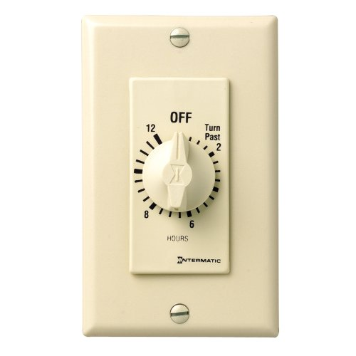 Intermatic FD12HC 12-Hour Spring-Loaded Wall Timer for Li...