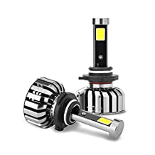 uxcell® 80W 9006 LED Headlight Kit 6000K 4000LM COB LED Bulbs for Headlight Replacement (Set of 2)