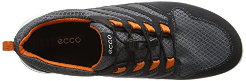 Uomo Mocassini ECCO Multicolore Calgary black 59551 Orange Titanium 51qEqnr