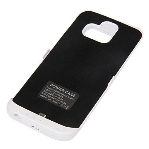 Lifeepro Samsung Galaxy S6 Edge G9250 Batería Funda, 5200mAh Battery Case Protectora de Recargable Portátil Charging Cubierta con Interno Cargador Ultra Fina Carcasa para Samsung Galaxy S6 Edge G9250  Negro