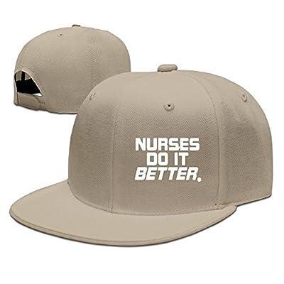 WellShopping Nurses Do It Better Solid Flat Bill Hip Hop Snapback Baseball Cap Unisex sunbonnet Hat.