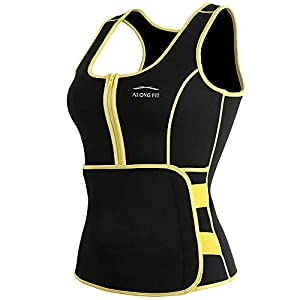 ALONG FIT Sweat Sauna Vest for Women Waist Trainer Corset Fitness Weight Loss Neoprene Body Shaper